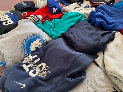 20 x GRADE A/B BRANDED VINTAGE SWEATSHIRTS/T-SHIRTS/ HOODIES MIX | MIXED JOB LOT