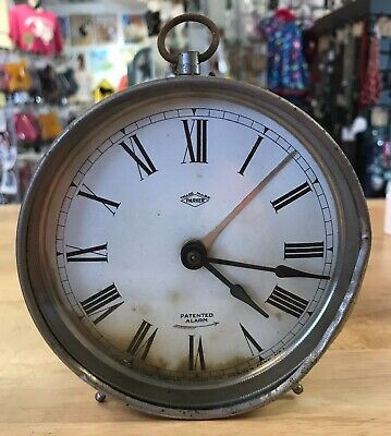 Parker Rotary Hammer Antique Alarm Clock-Patented Alarm- Does Not Work