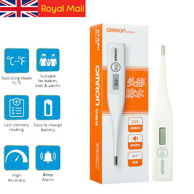 Digital OMRON LCD Thermometer Medical Baby Adult Body Kids Safe Temperature UK