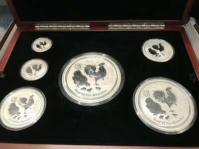 2017 Australian Year Of The Rooster  Silver Coin Set KILO, 10, 5, 2, 1, 1/2 Oz