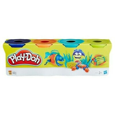 PLAY-DOH CLASSIC 4 PACK TUB Blue, Orange, Teal AND Green. Hasbro new