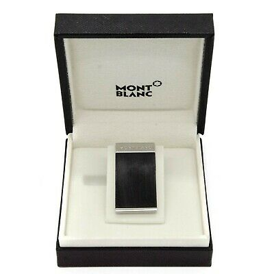Montblanc Money Clip Mj Stainless Steel Pince À Billets Like New In Original Box