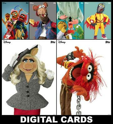 Topps Disney Collect Vintage Muppets Series 2 [6 CARD SET] Animal/Miss Piggy+++