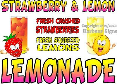 Food Truck Concession Sticker Lemonade Fresh Squeezed DECAL Choose Your Size