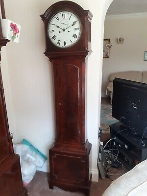 Long Case Clock Very Good Quality Figured Mahogany Case Only 6Ft 51/2 Tall
