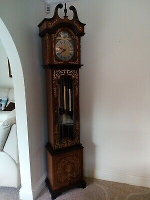 Long case Grandfather Clock Hermle.Westminster 4x4 striking movement. Chimes