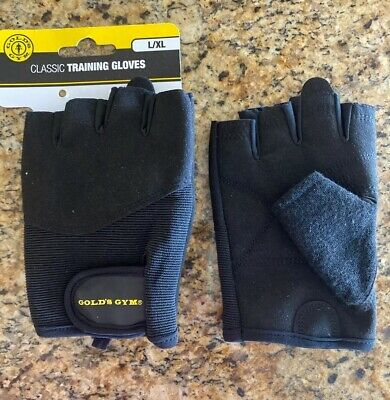 Lot of 6 Pair Golds Gym Mens Tacky Gloves Ventilated Fitness Weight Lifting L//XL