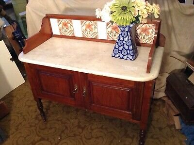 Antique Marbel Toped Washstand.