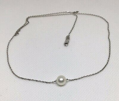cultured pearl (7mm) necklace - SS Chain