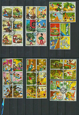 Walt Disney Cartoon Characters Collection 40 Different Stamps  Mickey, Miniie