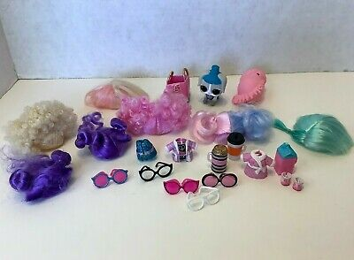 LOL Surprise Dolls WIGS HAIR Lot Of Replacement CURLS Accessories Outfits