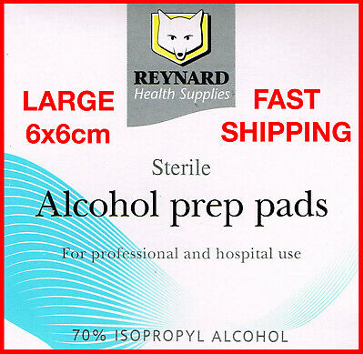 Alcohol Wipes Isopropyl 70% LARGE Sterile Medical Skin Swab IPA Isopropanol