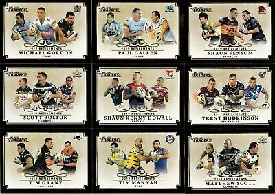 2020 Nrl Traders Retirements Trading Cards Full Set - 15 Cards - Inglis, Farah,