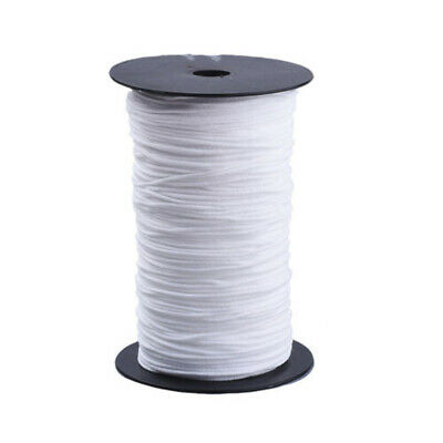 White Cord Round Elastic Bands for Sewing Stretch Rope Earloop String Beading