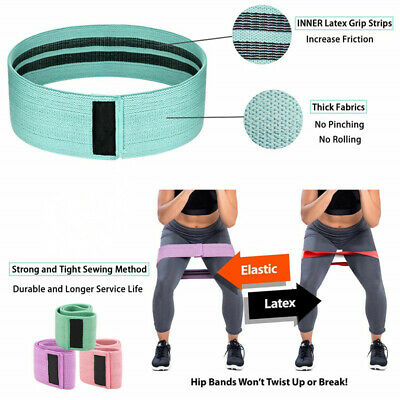 Resistance Bands Booty Fabric Glutes Hip Circle Legs Squat Yoga Non Slip Indoor