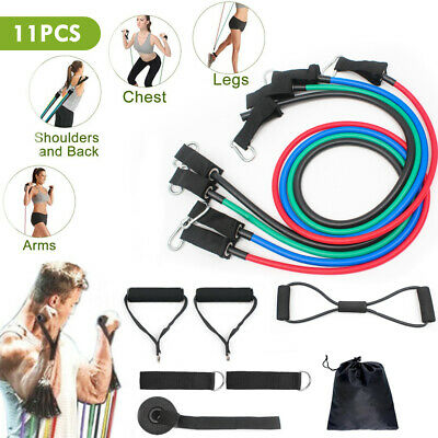 Upgraded Exercise Resistance Bands Yoga Workout Stretch Heavy Duty Tubes Fitness