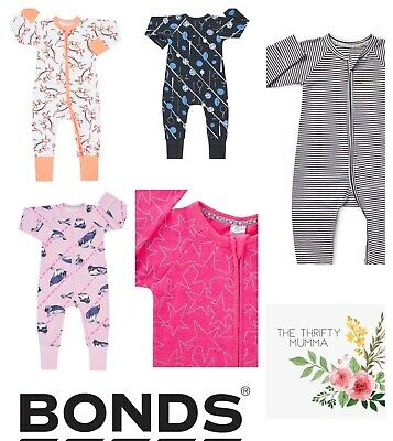 HUGE RANGE BNWT Bonds Zippy Wondersuits & Cozysuits Sizes 0000-3