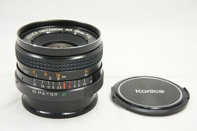 Konica Hexanon Ar 28mm F3.5 Mf Objectif pour Ar Support #200226t