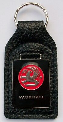 TVR RED ENAMEL LEATHER FOB  KEY RING     free delivery