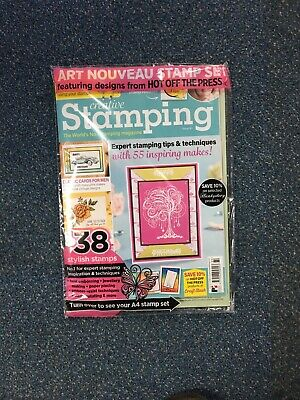 Creative Stamping Magazine Issue 80 with Art Nouveau Collection Stamp Set