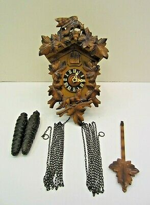 Vintage REGULA 25 Cuckoo Wood Clock GM 1731483 1716788 *MADE IN GERMANY **AS-IS