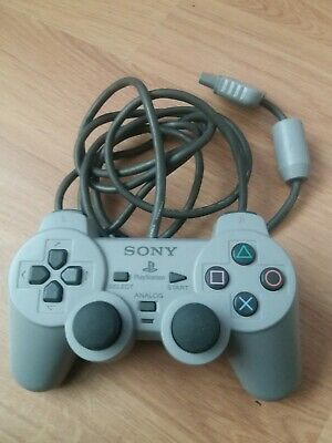Official Sony PlayStation One PS1 Grey DualShock Analog Controller Pad SCPH-1200