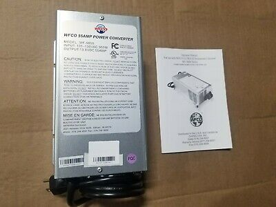 NEW WFCO 55 Amp Deck Mount Power Converter / Charger Corded RV Trailer Camper