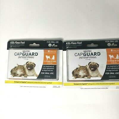 2 Boxes Sentry Capguard Oral Flea Tablet 2-25 lbs Dog & Cat Exp. 2/20
