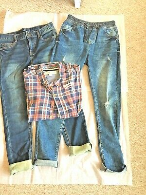 Next River Island Boys Jeans 2 Pairs And Shirt Aged 11 Years