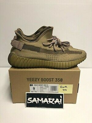 ADIDAS YEEZY BOOST 350 V2 EARTH - MEN SIZE 9 - 100% Authentic - FX9033 tan brown