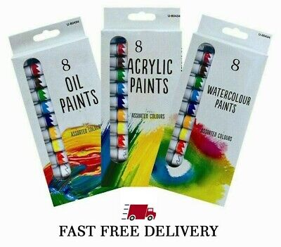 24 paint set of 3 (Acrylic, Water and Oil) Paints crafts Artist Art Offer F&F x