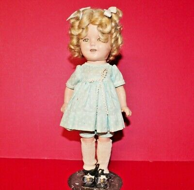 Vintage Ideal Shirley Temple Doll 13 1/2 Inch Composition Nice Hair Tlc 1930'S