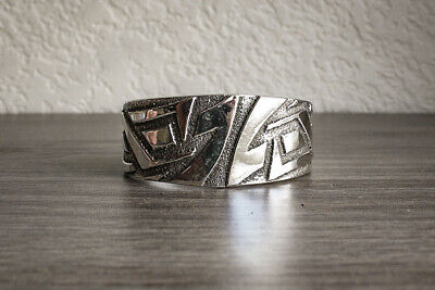 UTE - STERLING SILVER TUFA CAST BRACELET by ANTHONY BOWMAN - NATIVE AMERICAN