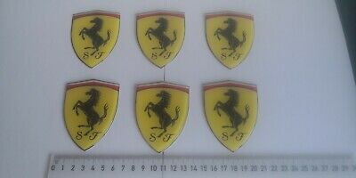 Ferrari 3D domed stickers set 4 pcs 1 cm uk