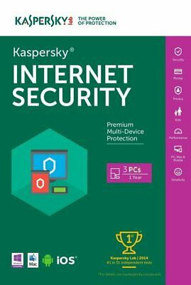 Nuevo Kaspersky Antivirus Intenet Security 2020 Multi Device 3 Dispositivos 1Año