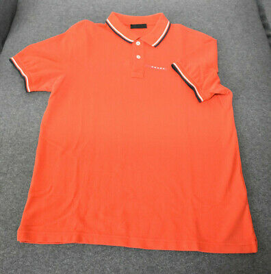 Prada Herren Polohemd/Shirt Orange Gr.XL Zustand Sehr Gut