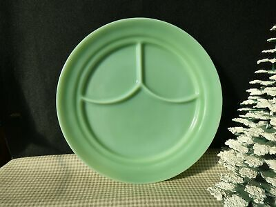 Vintage marked FIRE KING Oven Glass Jadeite Restaurant Ware Divided Plate