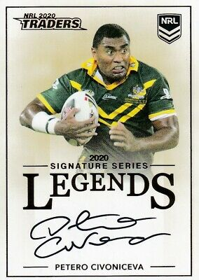 2020 Nrl Traders Legends Signature - L16 Petero Civoniceva Broncos - #205 Of 208