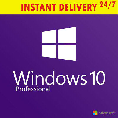 WINDOWS 10 PRO genuine key code license edition upgrade home professional 64 32