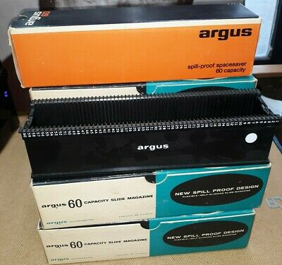 Vintage Argus Camera 60 Slide Tray & Pictures Lot of 7