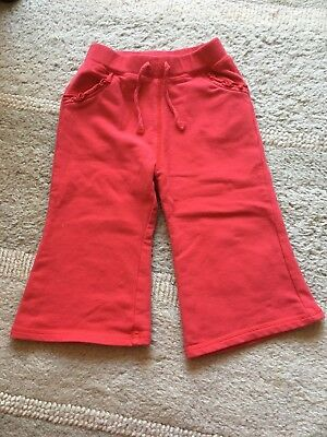Girls George Red Jogging Bottoms - Size 1-1 1/2 Years