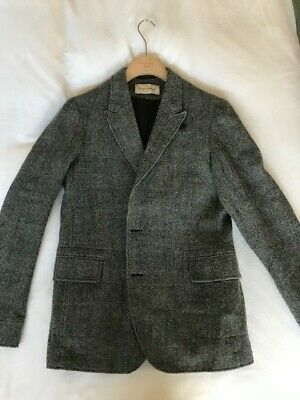 Oliver Spencer Grey Casual Virgin Wool Casual Blazer Size 40