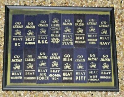 """Notre Dame Framed """"Go Irish"""" Ribbon Lot - 11"""" x 14"""" + (8) FREE ND EXTRA GIFTS"""
