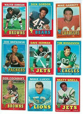 1971 Topps Football - Pick Your Cards - Complete Your Set- #s listed below - $1.