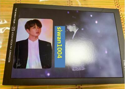 BTS THE WINGS TOUR THE FINAL ESSAY BOOK +  Jungkook Official Photo Card Cheap