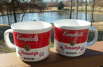 Vintage Westwood Campbell's Homestyle Cup Bowl Mugs 1989 Collectible Set of 2