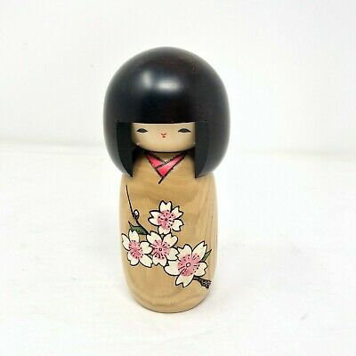 Kokeshi Doll by Woody Craft Japanese traditional crafts signed