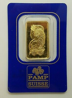 10 gram PAMP Suisse Lady Fortuna Gold Bar .9999 Fine Certified 418394 In Assay