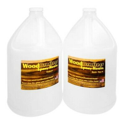 WoodCrafters Epoxy Resin Wood Coating Table Tops Super Gloss 1 Gallon Kit