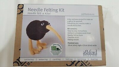 Ashford Needle Felting Kit Kiwi - Includes Felting Needle Foam & Wool NFKK